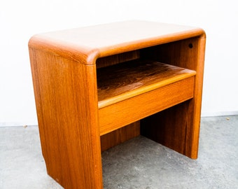 Danish Modern Nightstand End Table Side Teak Drawer Scandanavian Mid  Century Mcm Mid Century Modern FREE