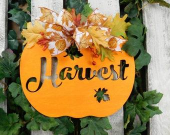 Fall Door Hanger, Harvest Door Hanger, Pumpkin Door Hanger, Fall Door Decorations, Thanksgiving Door Hanger, Harvest Door Decor, Pumpkin