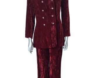 Henry Higgins Vintage Crushed Velvet Pantsuit