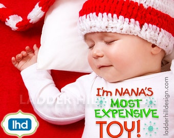 Nanas Most Expensive Toy ~ Christmas Embroidery Design CHR009A