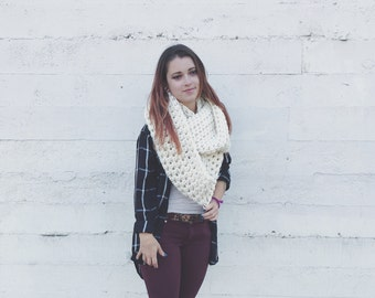 The Camilla Cowl | Giant Crochet Cowl | Jumbo Scarf | Knit Scarf