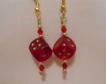 Lucky Red Dice Earrings Item No. 36