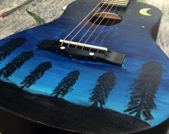 Hand Painted Guitar // Decoration