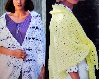 All Shawls Book No. 220 By Bernat Vintage Knitting And Crochet Leaflet 1976