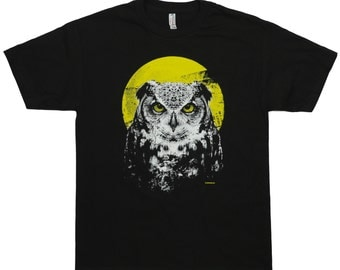 Night Owl with Full Moon T-Shirt