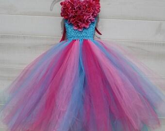 Flower girl dress - tutu dress - tulle dress - Tutu Dress - Girls/Youth/Toddler Dress - Pageant dress - Princess dress- First Birthday Dress