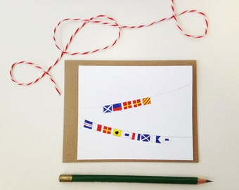 Christmas Card // Maritime Signal Flags // Merry Christmas // Nautical Holiday Card