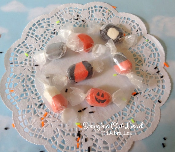 Fake Candy Faux Candies Halloween Salt Water Taffy Bowl Fillers Display Food Prop Decor