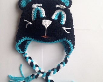PATTERN Crochet Panther hat, All Sizes, Newborn to Adult, Panthers hat