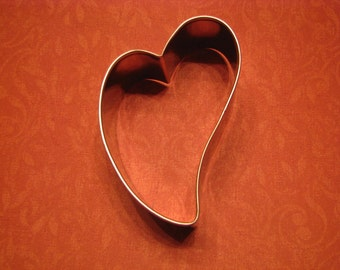 """3.25""""  Metal Folk Heart Cookie Cutter"""