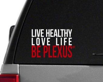 SALE-Live Healthy, Love Life, Be Plexus Car Decal - Box Style, Dual Color - Plexus Compliant!