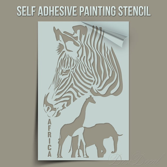 Africa Symbols And Animals One Time Use Self Adhesive Wall