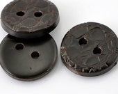 Dark Brown Round 2 Holes Resin Sewing Buttons Scrapbooking - Pack of 8