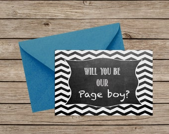 Will You Be Our Page Boy Card - The cutest way to ask !