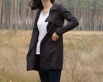 Womens linen jacket, linen clothing, CollectionWN