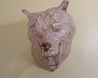 "Copper wire and paper bear - ""Ursa"""