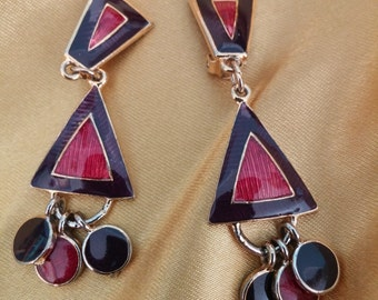 Mod Geometric Earrings ~ Vintage Fashion Statement!