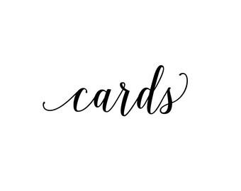 DIY Cards Vinyl Decal for card box