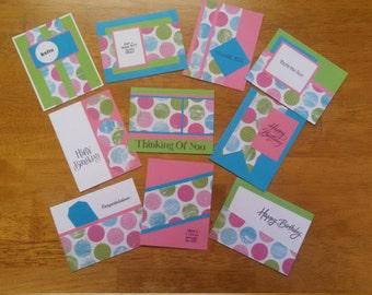 Set of 10 Homemade Cards