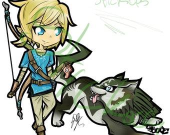 BOTW: Link & Wolf Link Merch [ Skirt // Mugs // Stickers + MORE