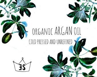 Organic Argan Oil - Cold Pressed Argan Oil - Unrefined Argan Oil - Pure Argan Oil - Natural Argan Oil - 100% Argan Oil