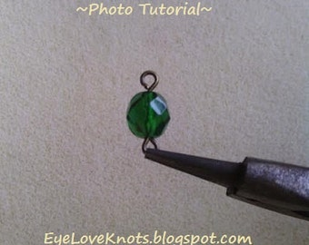 JEWELRY DIY & Photo Tutorial - How to Form a Basic Loop - Instant Download