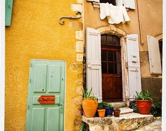 La Boutique - French Provencial FIne Art Southern France Provence Roussilon 8x12 Photograph Color B&W 11x17 16x24 Large Canvas Wall Art