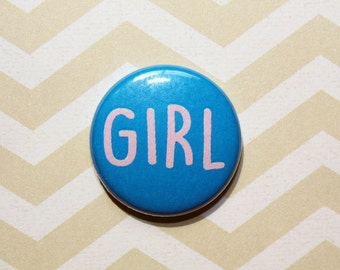 Girl-One Inch Pinback Button