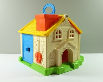 Vintage Fisher Price Discovery Cottage #136 - Fisher Price family house - Fisher Price cottage - Fisher Price House - Vintage toys