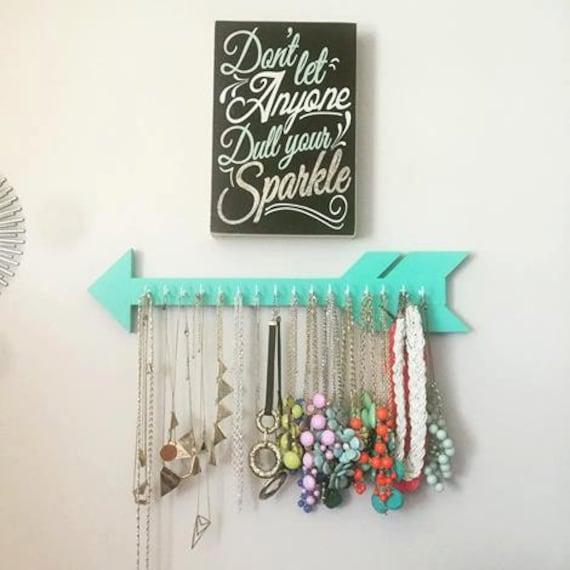 Arrow jewelry holder jewelry organizer gift earring holder for Room decor jewelry holder