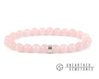 Rose Quartz Bracelet -Love Bracelet, Rose Quartz Jewelry, Pink Gemstone Bracelet, Pink Quartz Bracelet, Fertility Bracelet