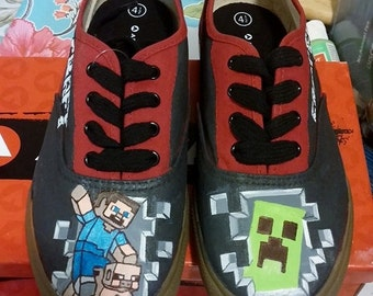 MineCraft Custom Painted Shoes