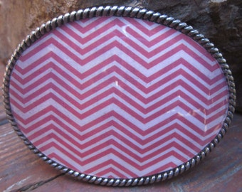 chevron belt buckle red chevron belt buckle women's  belt buckle bohemian belt buckle mens belt buckle red & white chevron oval belt buckle