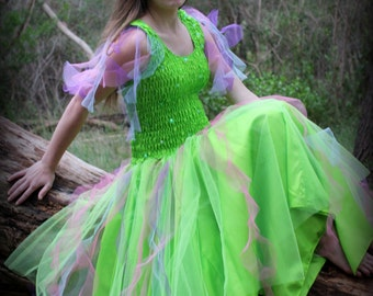 Adult  Tulle  Tinkerbell Fairy  Costume ~  Halloween Tinkerbell Costume ~ Theatre ~ Masquerade ~ Dress-Up
