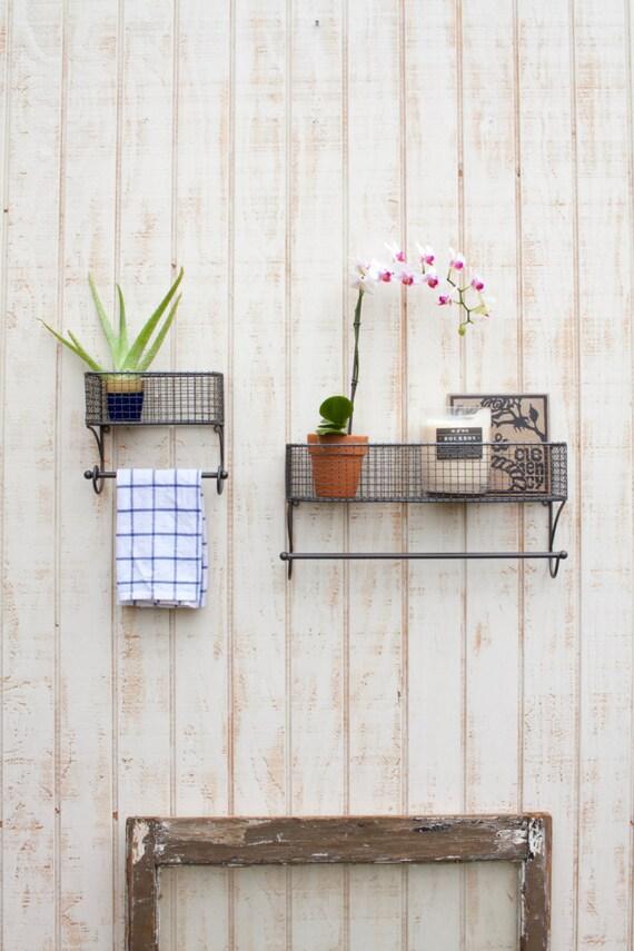Decorative Wall Shelf For Kitchen : Wall shelf hooks kitchen decor shelving with