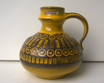 Ceramano, Art Pottery Vase, Nr 249, Decor Sunset, West German Pottery, 1960s, Designed by Hans Welling