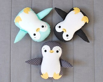 Penguin Baby Cloth Stuffed Animal Toy Rag doll for kids dress up doll jobuko