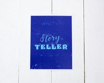 Story Teller, 8x10 Print