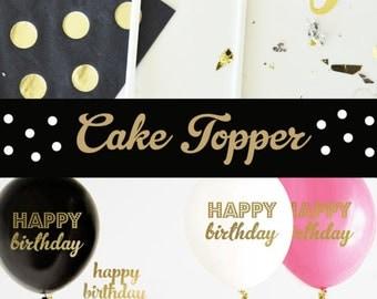 Happy Birthday Cake Topper Birthday Gold Birthday Cake Topper Birthday Cake Decorations Kids Cake Topper Adult Birthday Cake Topper (EB3116)
