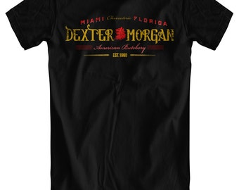 Dexter Morgan: American Butchery - Men's Black T-Shirt