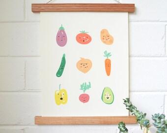Vegetable Emotions Print