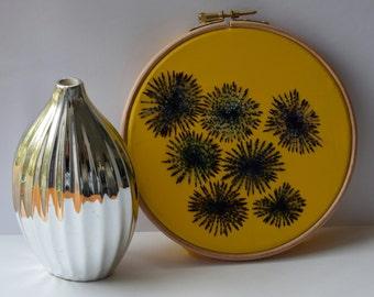 Circles hoop art / textile art / modern embroidered art / wall art / home decor / free machine embroidered art / abstract art