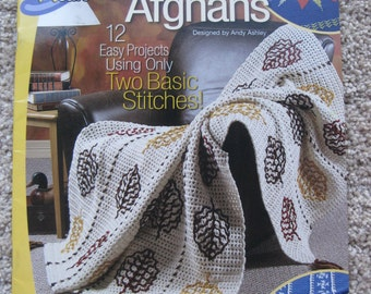 Crochet Pattern Book - Simple & Fun Afghans - Crochet 'n Weave - Annies Attic #873719