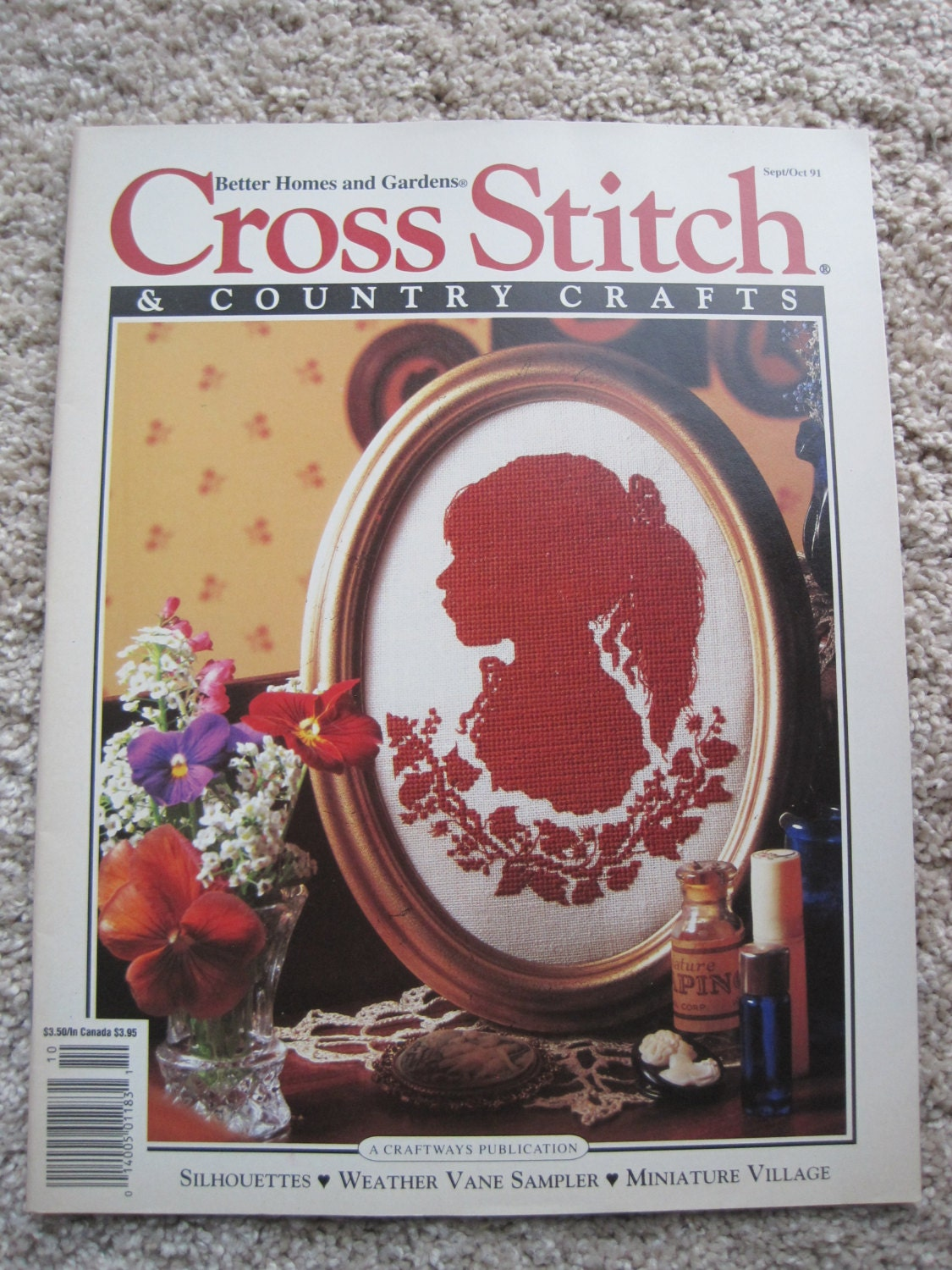 Cross stitch and country crafts magazine back issues - Cross Stitch Country Crafts Magazine Sept Oct 1991
