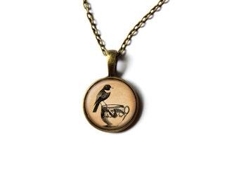 Cute necklace Bird jewelry Animal pendant NWR121