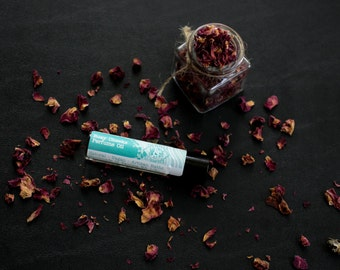 Mix| Rosy Cheeks Fragrance Oil Roll-on Perfume in 1/3oz Reusable Glass Tube
