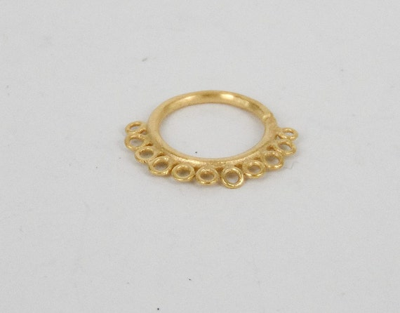 gold nose ring gold nose hoop nose jewelry nostril by ronibiza