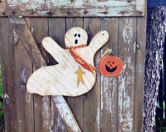 Primitive, Primitive halloween decor, Primitive Ghost, Door Greeter, Primitive pumpkin, Country primitive, Primitive Fall Decor, OFG Team