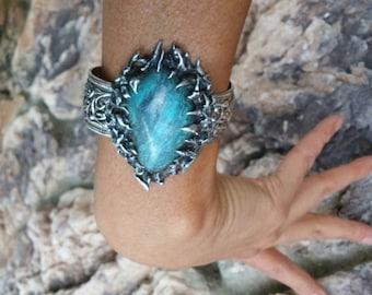 Statement Cuff~Turquoise Bracelet~Harley Davidson Jewelry