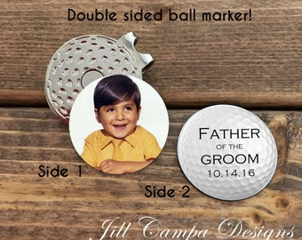 FATHER of the GROOM gift- photo golf ball marker - father of the groom gift - from groom - father of the groom - FOG - golf ball marker